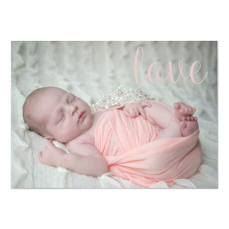 Anúncio do bebê convite 12.7 x 17.78cm