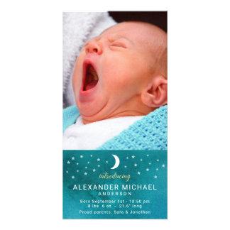 Anúncio do bebê da lua e da foto das estrelas