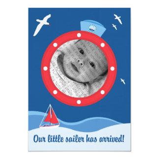 Anúncio do bebê do marinheiro convite 12.7 x 17.78cm