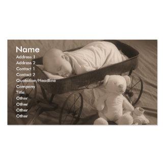 Anúncio do bebê ou negócio da criança cartão de visita