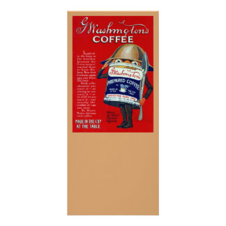 Anúncio do café instantâneo de WWI 10.16 X 22.86cm Panfleto