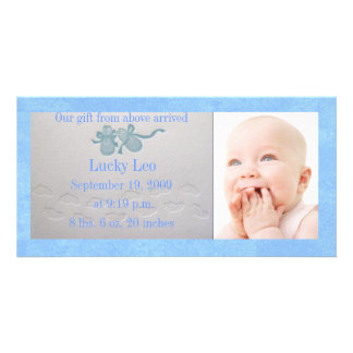 Anúncio do cartão com fotos do deslizador do bebé