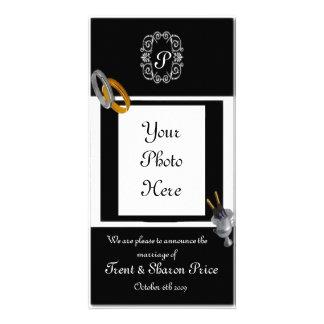 Anúncio do casamento cartão com foto