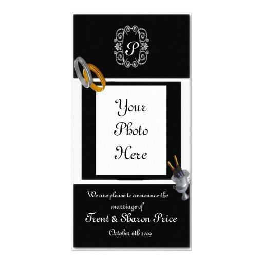 Anúncio do casamento cartão com fotos