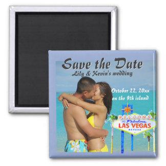 Anúncio do casamento da ilha de Havaí nono Ímã Quadrado