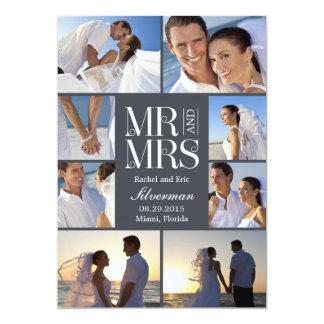 Anúncio do casamento do montagem do casamento - convite 12.7 x 17.78cm