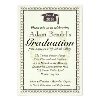Anúncio do certificado da graduação convite 12.7 x 17.78cm
