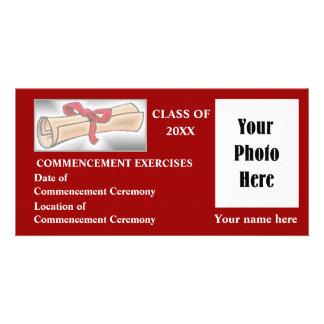 Anúncio do começo - vermelho cartão com foto