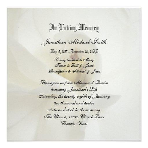 Anúncio do convite da cerimonia comemorativa