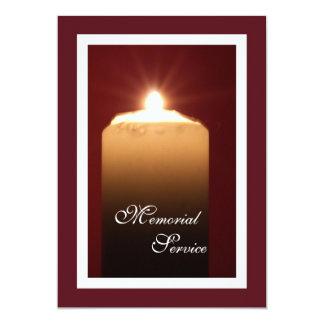 Anúncio do convite da vela da cerimonia