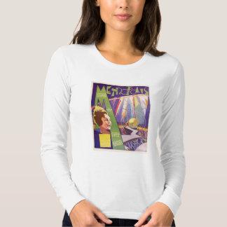 Anúncio do expositor do filme silencioso da camisetas
