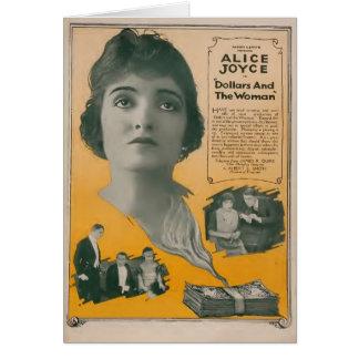 Anúncio do expositor do filme silencioso de Alice  Cartão Comemorativo