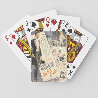 Anúncio do expositor do filme silencioso de jogo de cartas