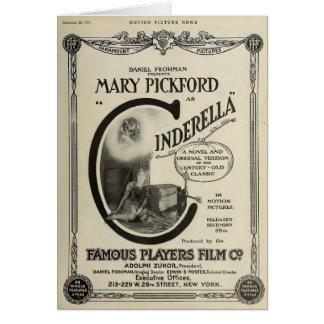 Anúncio do filme silencioso de Mary Pickford