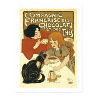 Anúncio do francês do vintage de Chocolats Cartão Postal