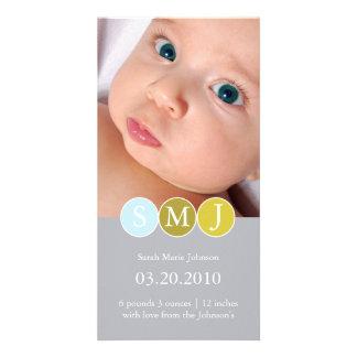 Anúncio do nascimento cartao com foto