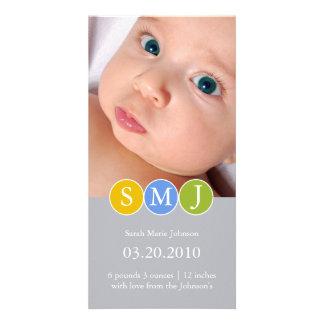 Anúncio do nascimento cartão com fotos