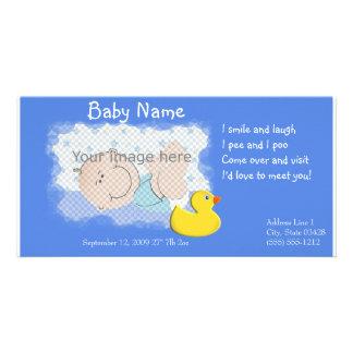 Anúncio do nascimento cartões com fotos personalizados