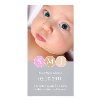 Anúncio do nascimento cartoes com foto