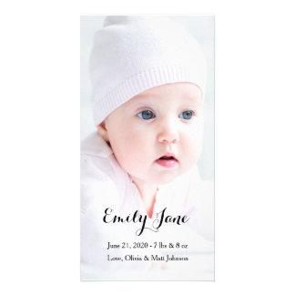 Anúncio do nascimento - cartões com fotos