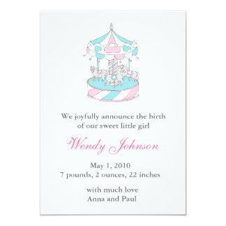 Anúncio do nascimento com carrossel convites