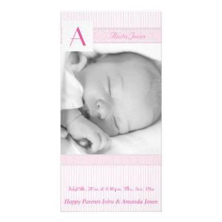 Anúncio do nascimento da foto cartão com foto