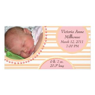 Anúncio do nascimento da foto cartoes com fotos personalizados