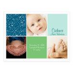 Anúncio do nascimento da foto da estrela 3 cartão postal