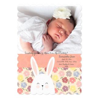 Anúncio do nascimento da foto da mistura da páscoa