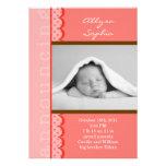 Anúncio do nascimento da foto do bebé convites