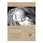 Anúncio do nascimento da foto do bebé do coelho da