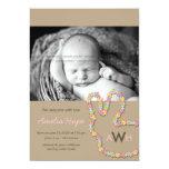 Anúncio do nascimento da foto do bebé do coelho da convites personalizados