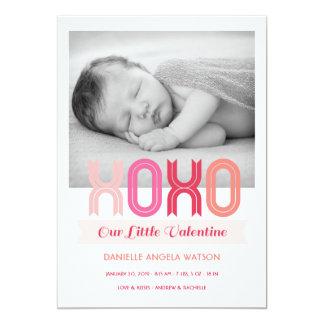 Anúncio do nascimento da foto do dia dos namorados convite 12.7 x 17.78cm