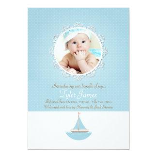 Anúncio do nascimento da foto do marinheiro de Lil Convite 12.7 X 17.78cm