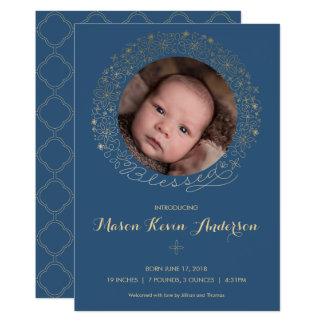 Anúncio do nascimento da foto do menino -