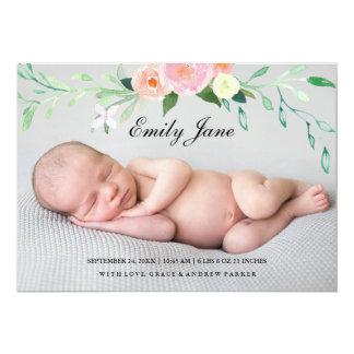Anúncio do nascimento da foto do Wildflower da