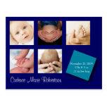 Anúncio do nascimento de 5 fotos cartão postal