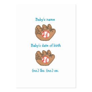 Anúncio do nascimento do basebol mini cartão de visita grande