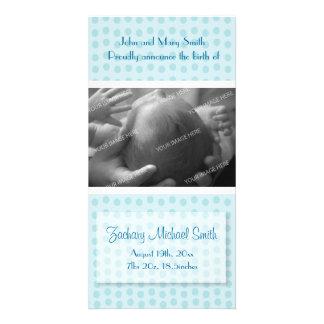 Anúncio do nascimento do bebé cartão com foto