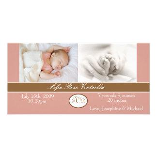Anúncio do nascimento do bebé cartao com foto personalizado
