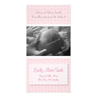 Anúncio do nascimento do bebé cartão com fotos personalizado
