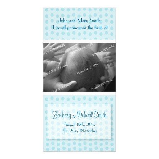 Anúncio do nascimento do bebé cartões com foto