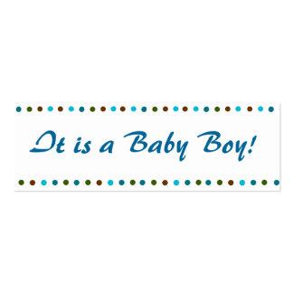 Anúncio do nascimento do bebé de Minicard Cartão De Visita Skinny