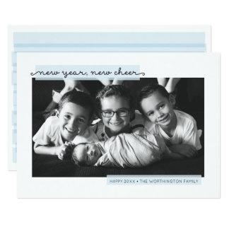 Anúncio do nascimento do bebé do ano novo convite 12.7 x 17.78cm