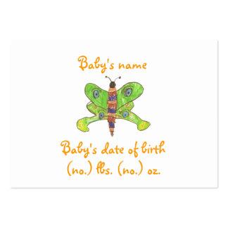 Anúncio do nascimento do bolso da borboleta cartão de visita grande