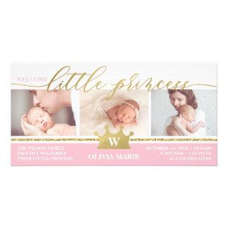 Anúncio do nascimento, princesa pequena, folha do