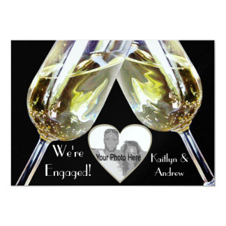 Anúncio do noivado do brinde de Champagne Convites Personalizado