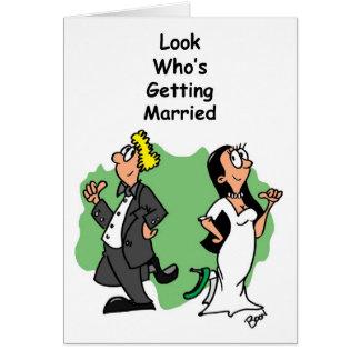 Anúncio do noivado do casamento cartão comemorativo