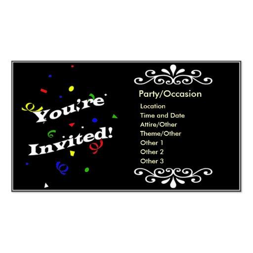 Anúncio do partido cartoes de visitas