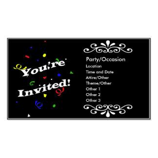 Anúncio do partido cartão de visita